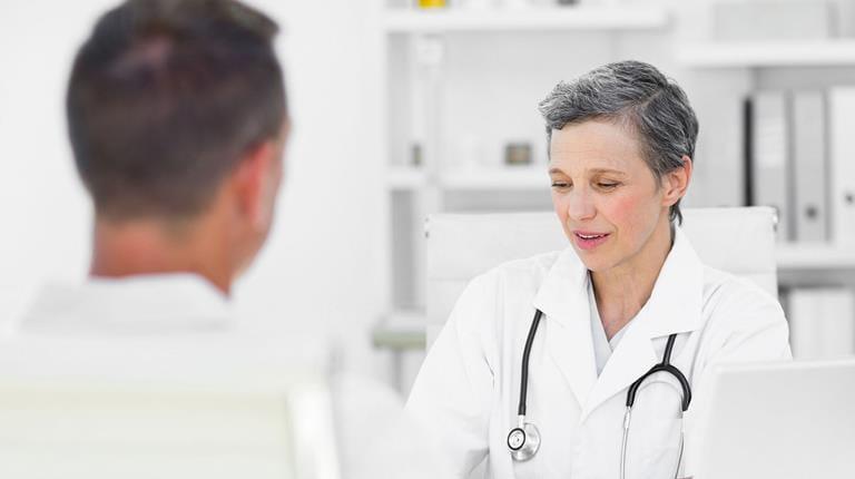 Ärztin im Gespräch