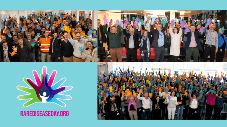 CSL Behring employees at the Marburg, Bern and Lengnau sites show solidarity towards our patients, raising awareness for Rare Disease Day